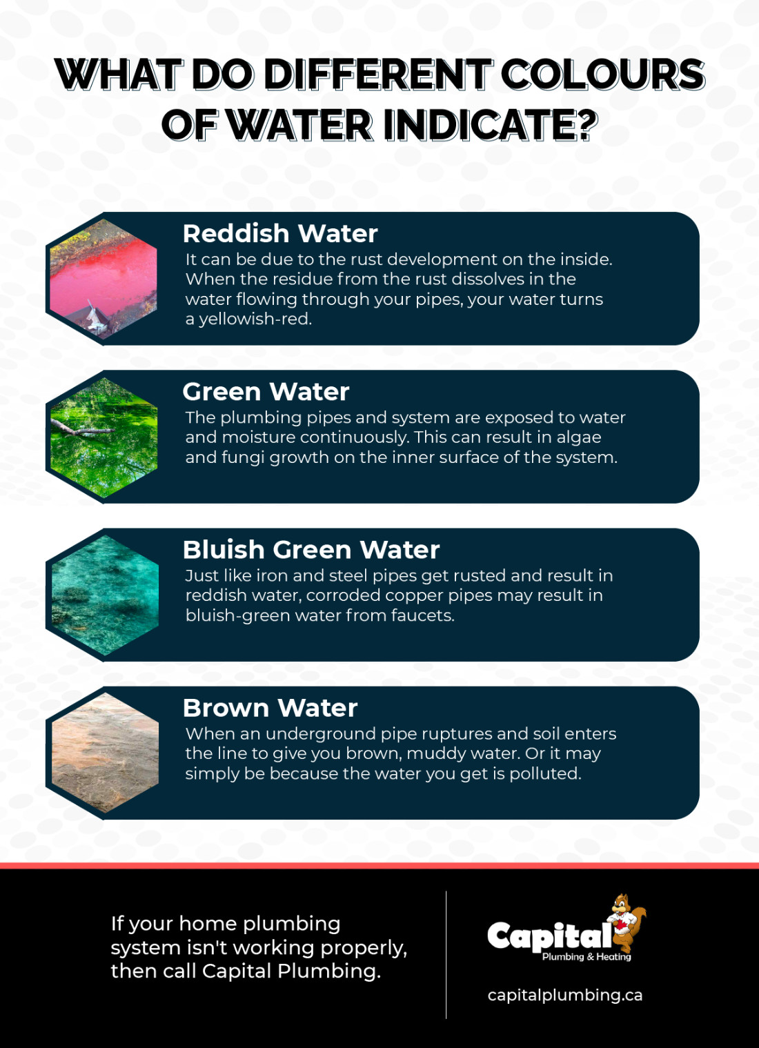 What Do Different Colours of Water Indicate